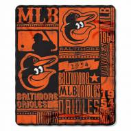Baltimore Orioles Strength Fleece Blanket