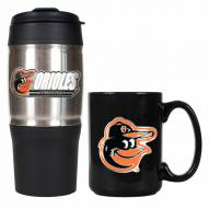 Baltimore Orioles Travel Tumbler & Coffee Mug Set