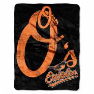Baltimore Orioles Triple Play Throw Blanket