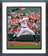 Baltimore Orioles Ubaldo Jimenez 2014 Action Framed Photo