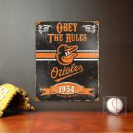 Baltimore Orioles Vintage Metal Sign