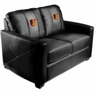 Baltimore Orioles XZipit Silver Loveseat with Bird Logo