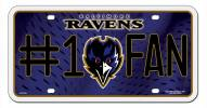 Baltimore Ravens #1 Fan License Plate