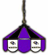 "Baltimore Ravens 14"" Glass Pub Lamp"