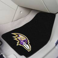 Baltimore Ravens 2-Piece Carpet Car Mats
