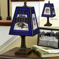 Baltimore Ravens Art Glass Table Lamp