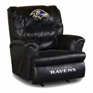 Baltimore Ravens Big Daddy Leather Recliner