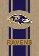 Baltimore Ravens Burlap Flag