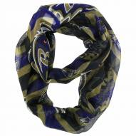 Baltimore Ravens Chevron Sheer Infinity Scarf