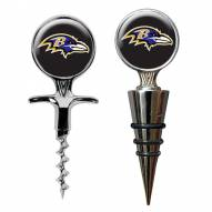 Baltimore Ravens Cork Screw & Wine Bottle Topper Set