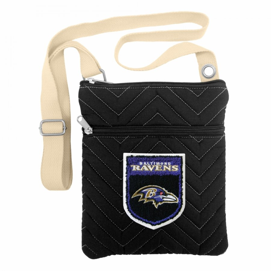 Baltimore Ravens Crest Chevron Crossbody Bag