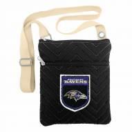 Baltimore Ravens Crest Chevron Crossbody Bag