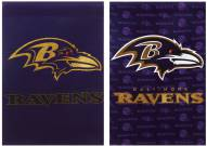 Baltimore Ravens Double Sided Glitter Garden Flag