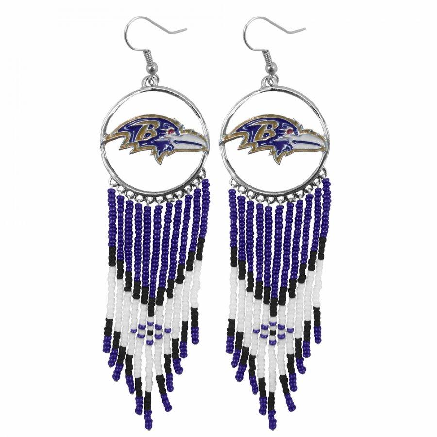 Baltimore Ravens Dreamcatcher Earrings