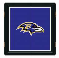Baltimore Ravens Extreme Fan Dartboard Cabinet Set