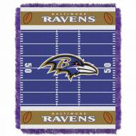Baltimore Ravens Field Baby Blanket