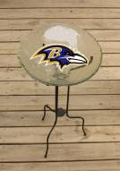 Baltimore Ravens Glass Bird Bath