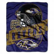 Baltimore Ravens Grand Stand Raschel Throw Blanket