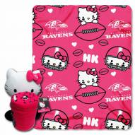 Baltimore Ravens Hello Kitty Blanket & Pillow