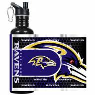 Baltimore Ravens Hi-Def Black Stainless Steel Water Bottle