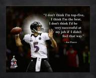 Baltimore Ravens Joe Flacco Framed Pro Quote