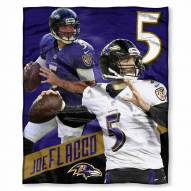Baltimore Ravens Joe Flacco Silk Touch Blanket