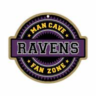 Baltimore Ravens Man Cave Fan Zone Wood Sign