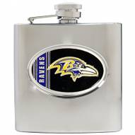 Baltimore Ravens NFL 6 Oz. Stainless Steel Hip Flask