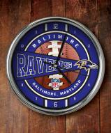 Baltimore Ravens NFL Chrome Wall Clock
