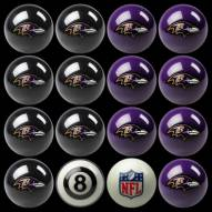 Baltimore Ravens NFL Home vs. Away Pool Ball Set
