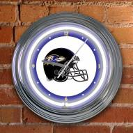 Baltimore Ravens NFL Neon Wall Clock