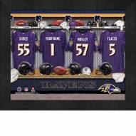 Baltimore Ravens NFL Personalized Locker Room 11 x 14 Framed Photograph