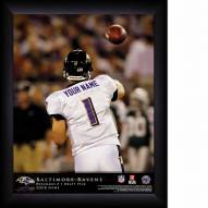 Baltimore Ravens Personalized NFL Action QB Framed Print