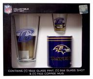 Baltimore Ravens Pint, Shot, Coffee Mug Set