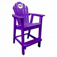 Baltimore Ravens Purple Pub Captain Chair