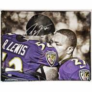 "Baltimore Ravens Ray Lewis Hugging Ray Rice Signed 16"" x 20"" Photo"