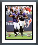 Baltimore Ravens Ray Lewis & Terrell Suggs 2008 Action Framed Photo