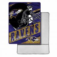 Baltimore Ravens Sherpa Foot Pocket Blanket