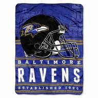 Baltimore Ravens Silk Touch Stacked Blanket