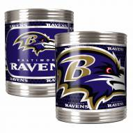 Baltimore Ravens Stainless Steel Hi-Def Coozie Set