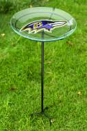 Baltimore Ravens Staked Bird Bath