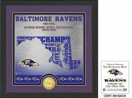 Baltimore Ravens State Bronze Coin Photo Mint