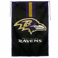 Baltimore Ravens Team Fan Flag