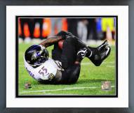 Baltimore Ravens Terrell Suggs Interception 2014 Playoff Action Framed Photo