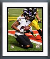 Baltimore Ravens Torrey Smith Touchdown Catch 2014 Playoff Action Framed Photo