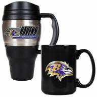Baltimore Ravens Travel Mug & Coffee Mug Set