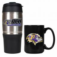 Baltimore Ravens Travel Tumbler & Coffee Mug Set