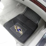 Baltimore Ravens Vinyl 2-Piece Car Floor Mats