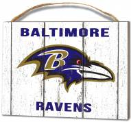 Baltimore Ravens Weathered Logo Small Plaque