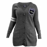Baltimore Ravens Women's Gray Varsity Cardigan